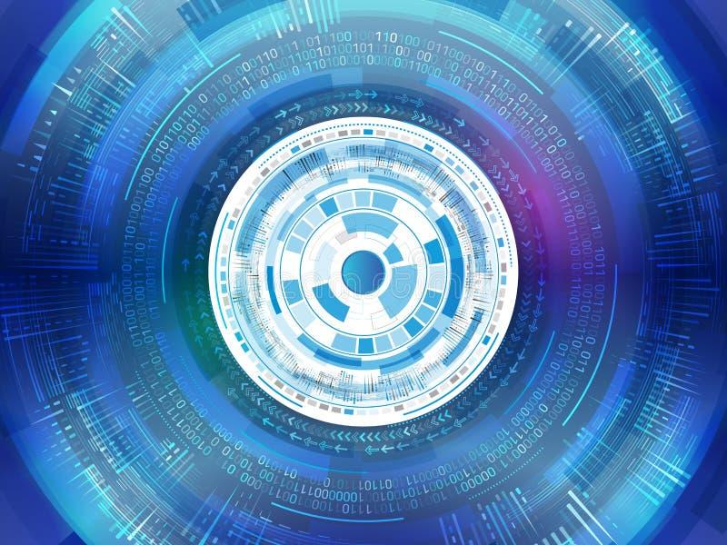 Placa de circuito futurista abstracta Comunicación digital de alta tecnología stock de ilustración