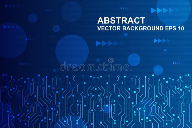 Placa de circuito futurista abstracta, concepto de alta tecnología de la tecnología digital Ilustración del vector libre illustration