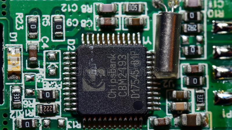 Placa de circuito genérica imagens de stock royalty free