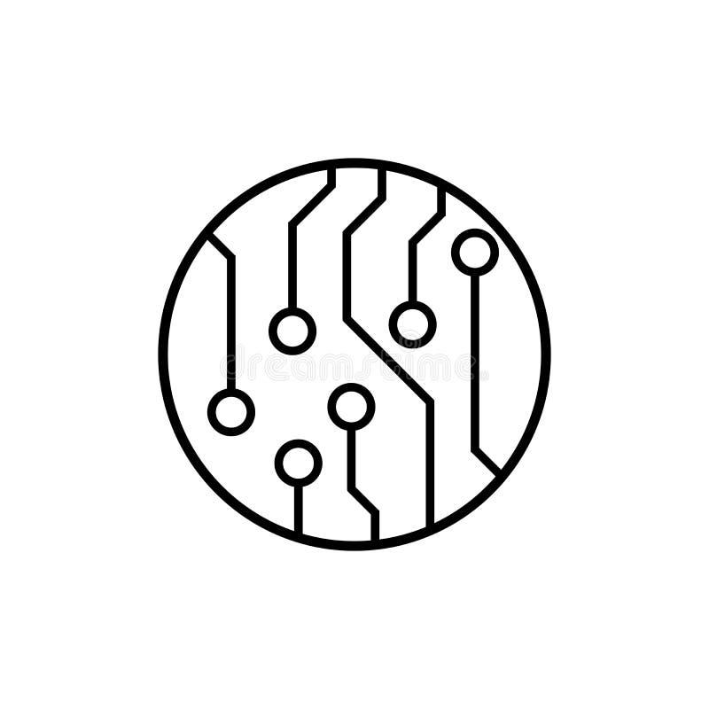 Placa de circuito, icono del vector de la tecnología Para su diseño del sitio web, logotipo, app, UI Ilustración del vector stock de ilustración