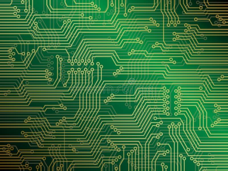 Placa de circuito ilustración del vector