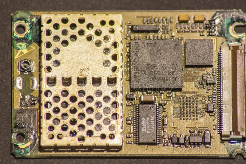 Placa de circuito impresa electrónica imágenes de archivo libres de regalías