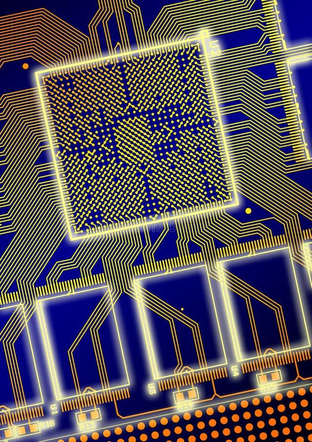 Placa de circuito impresso ilustração stock