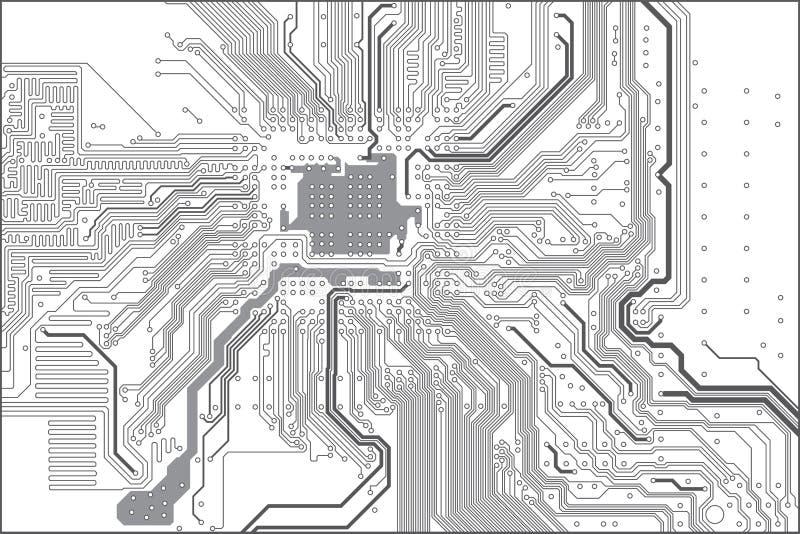 Placa de circuito impresso ilustração do vetor