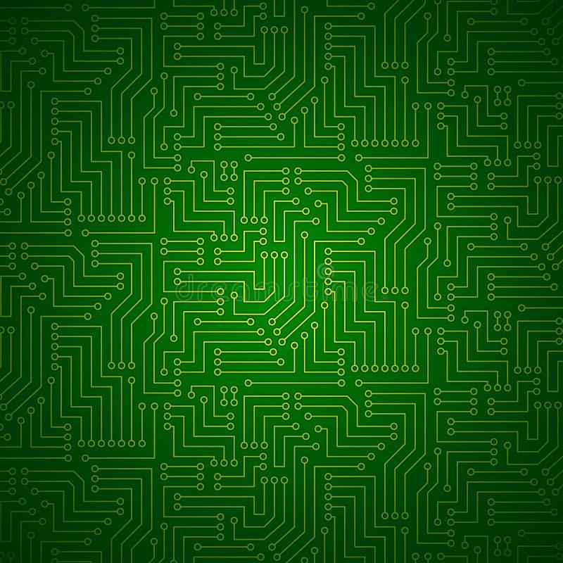 Placa de circuito impresso de brilho ilustração royalty free