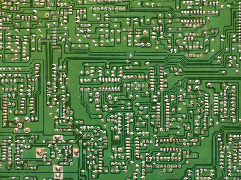 Placa de circuito impresso do verde - PWB fotos de stock royalty free