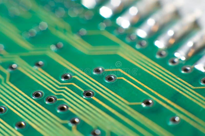 Placa de circuito impresso, macro fotos de stock