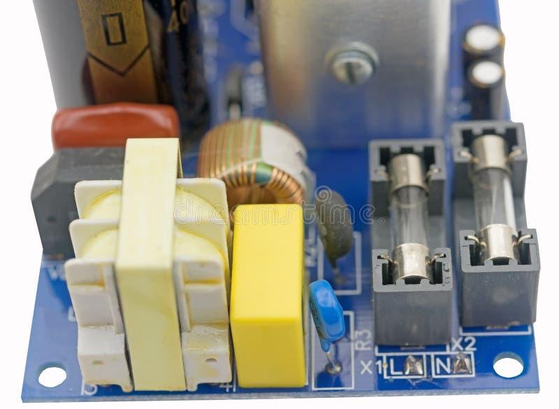 Placa de circuito no branco fotografia de stock royalty free