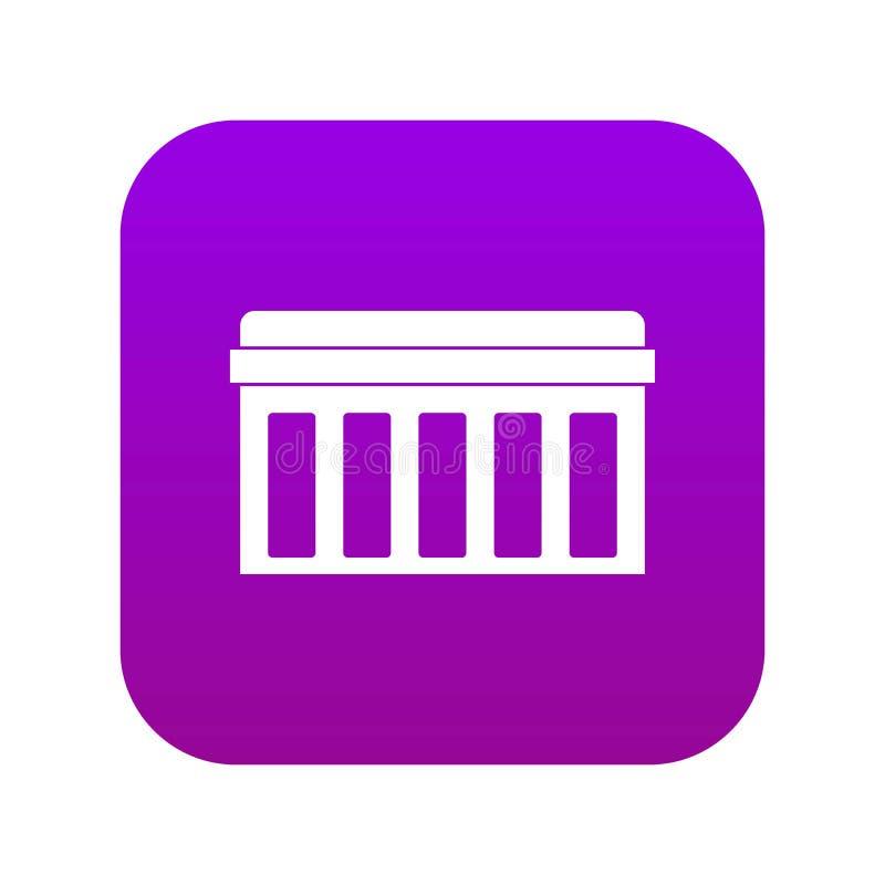 Placa de circuito, púrpura digital del icono de la tecnología libre illustration