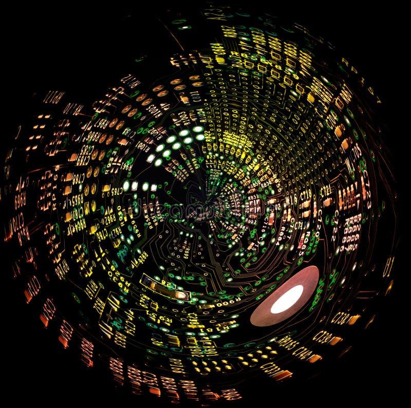 Placa de circuito Spheric fotos de stock royalty free
