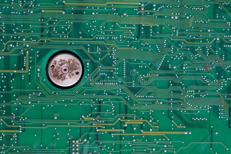 Placa de circuito velha fotografia de stock royalty free