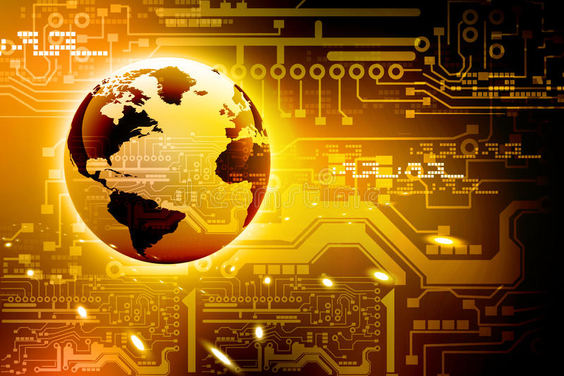 Placa de circuito y mundo de alta tecnología abstractos libre illustration