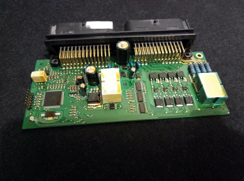 Placa de controlador eletrônico foto de stock