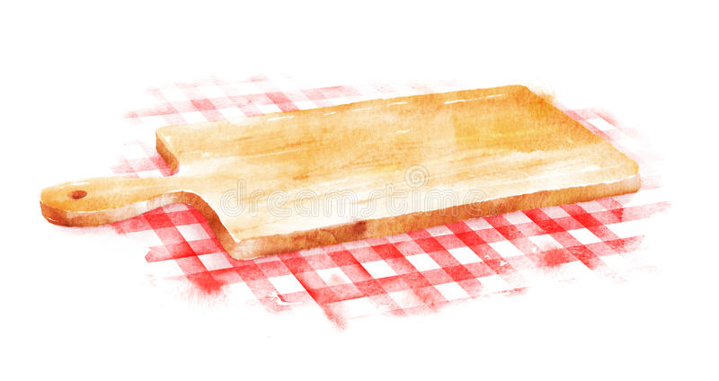 Placa de corte da aquarela ilustração stock