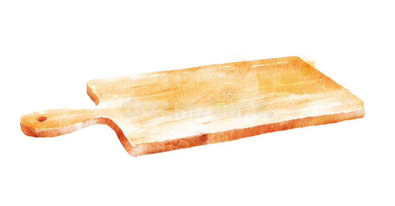 Placa de corte da cozinha ilustração stock