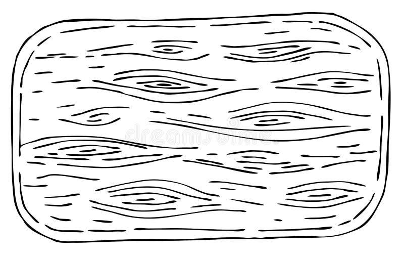 Placa de corte de madeira para o sushi ilustração royalty free