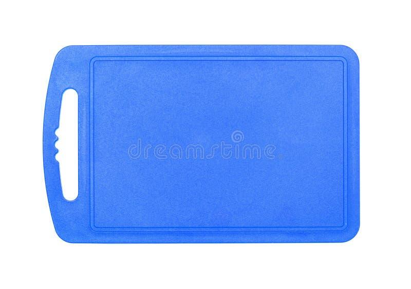 Placa de corte plástica azul imagens de stock royalty free