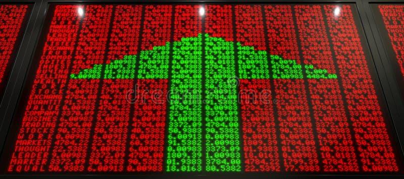 Placa de Digitas do mercado de valores de ação ilustração stock