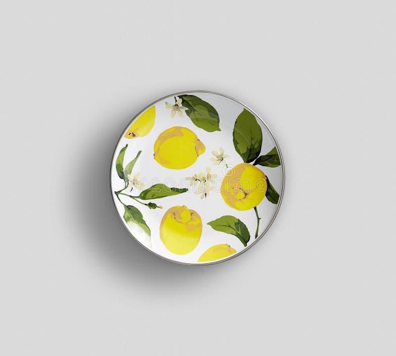 Placa de ensalada del girasol - imagen imagen de archivo
