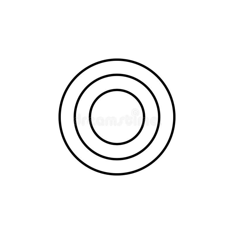 Placa de ensalada, icono de la cena Puede ser utilizado para la web, logotipo, app móvil, UI, UX libre illustration