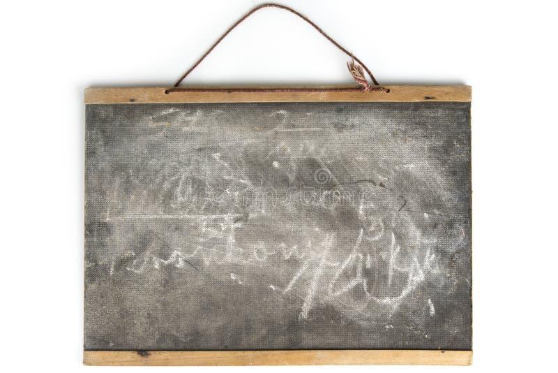 Placa de escola O quadro-negro vazio vazio do quadro, com giz segue fotografia de stock