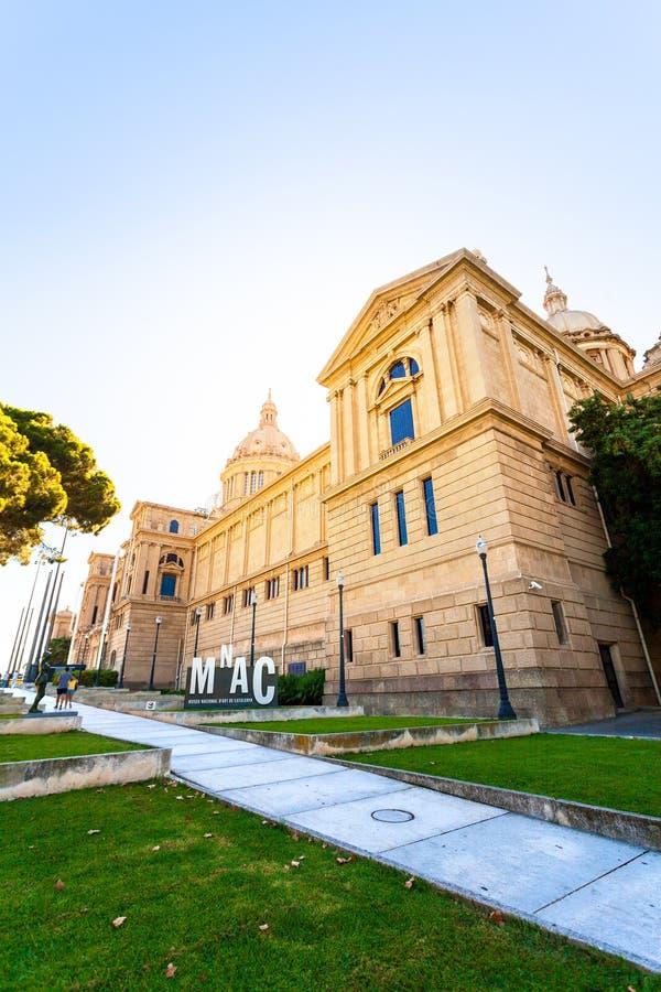 Placa De Espanya, the National Museum in Barcelona. royalty free stock image