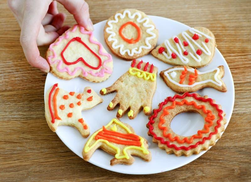Placa de galletas hechas en casa imagen de archivo libre de regalías