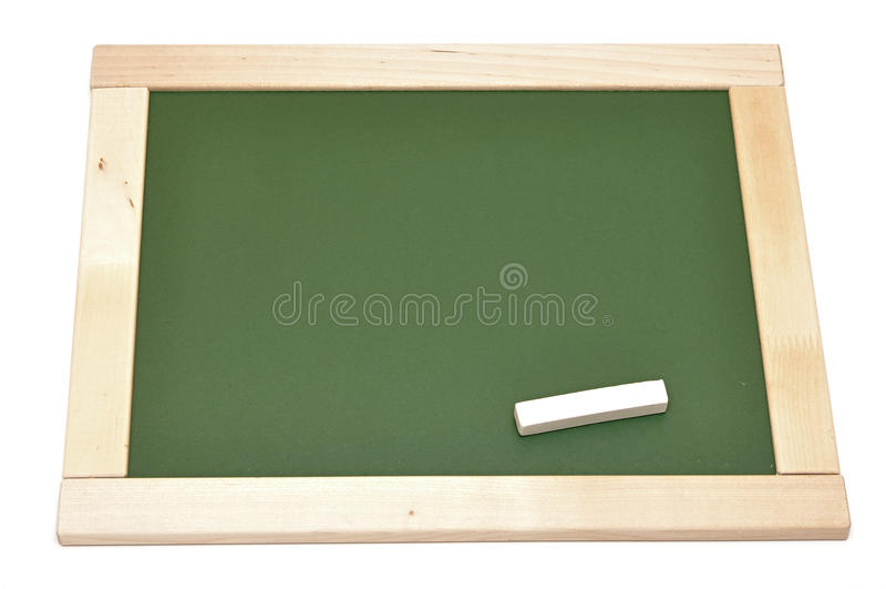 Placa de giz verde em branco foto de stock