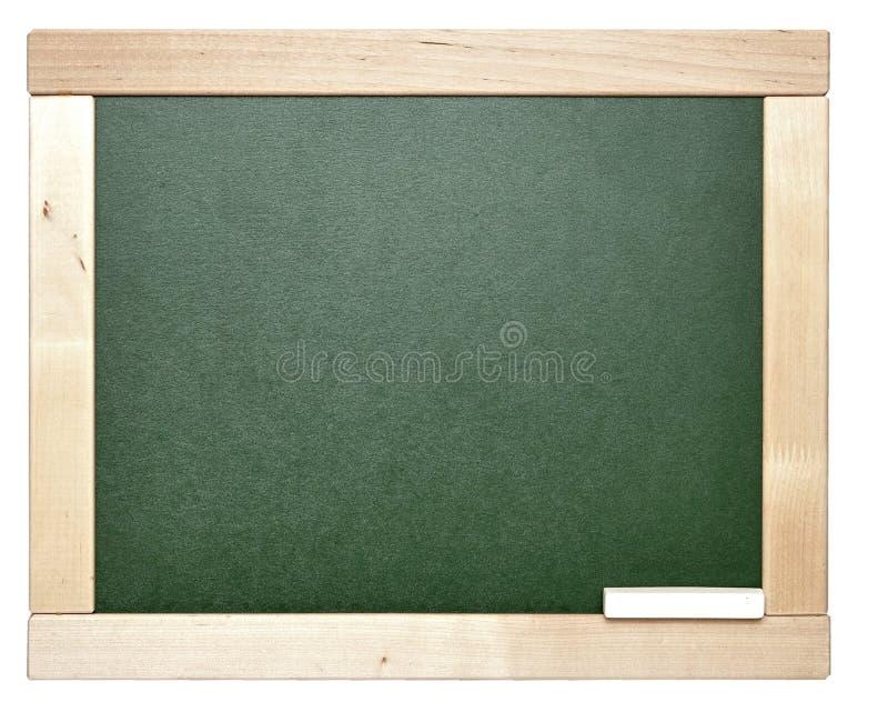Placa de giz verde em branco imagens de stock