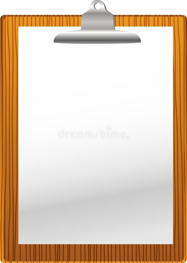 Placa de grampo com placa de papel ilustração royalty free