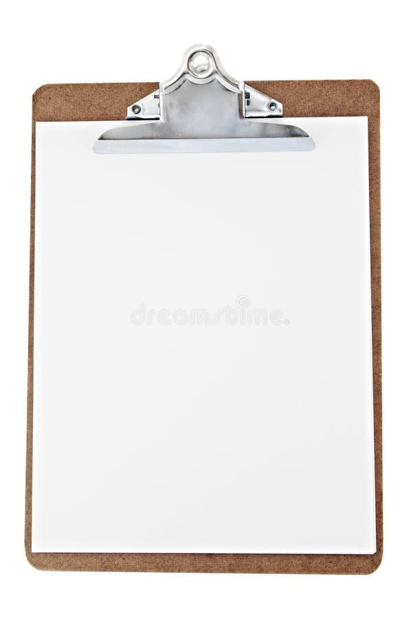 Placa de grampo de papel fotografia de stock