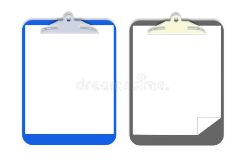 Placa de grampo do vetor imagem de stock