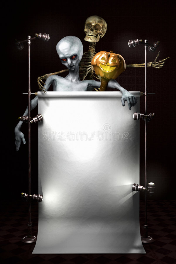 Placa de Halloween fotos de stock