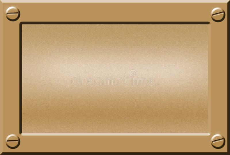 Placa de identificación del metal libre illustration
