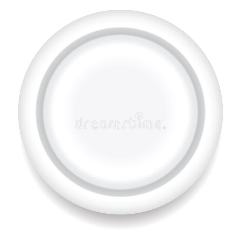 Placa de jantar ilustração do vetor
