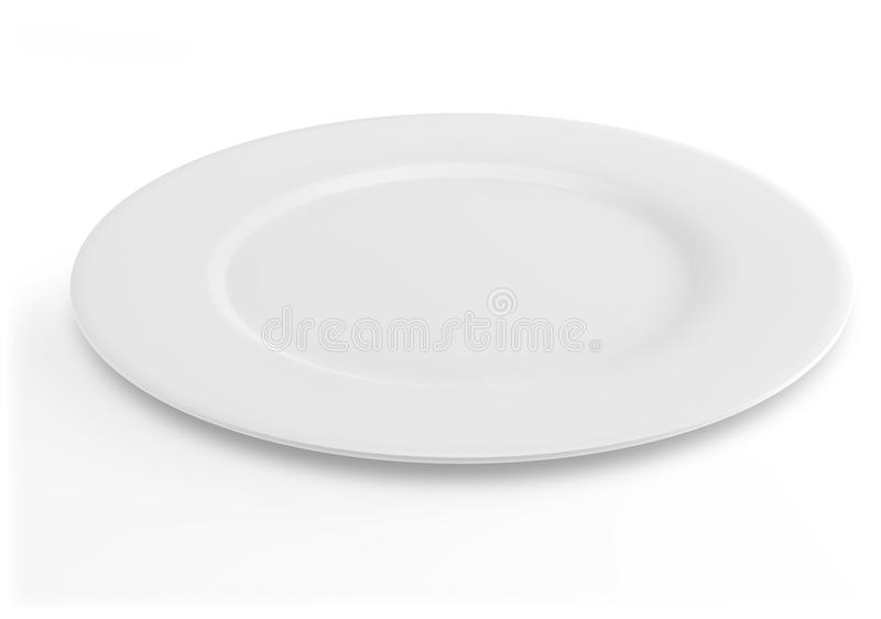 Placa de jantar branca vazia fotografia de stock
