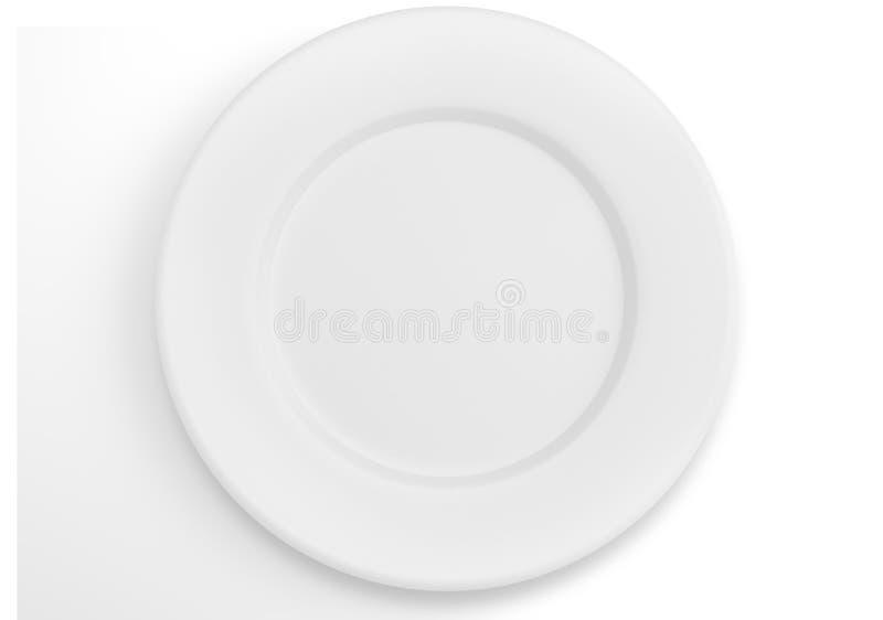 Placa de jantar branca vazia fotografia de stock royalty free