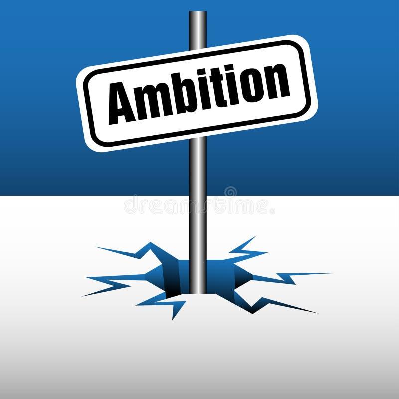 Placa de la ambición libre illustration