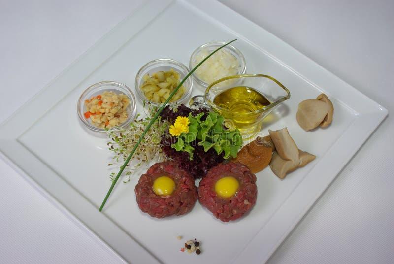 Placa de la comida de cena fina fotos de archivo