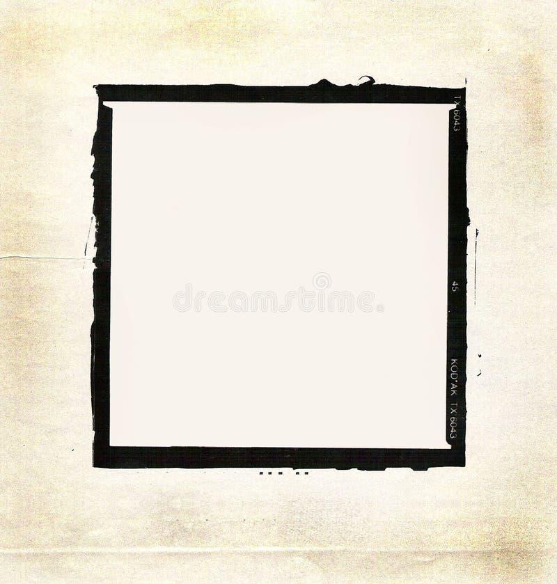 Placa de la foto de Grunge ilustración del vector