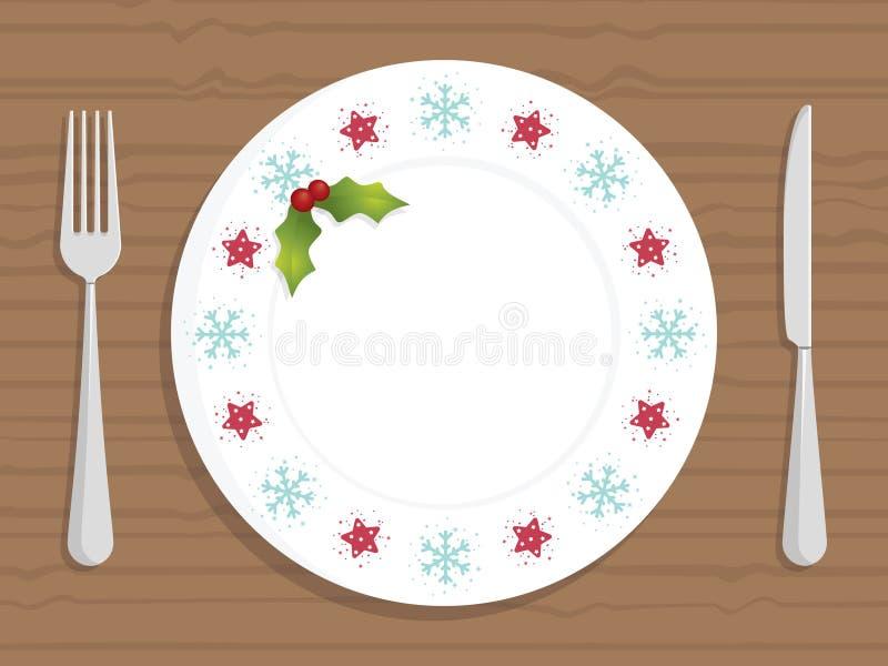 Placa de la Navidad ilustración del vector
