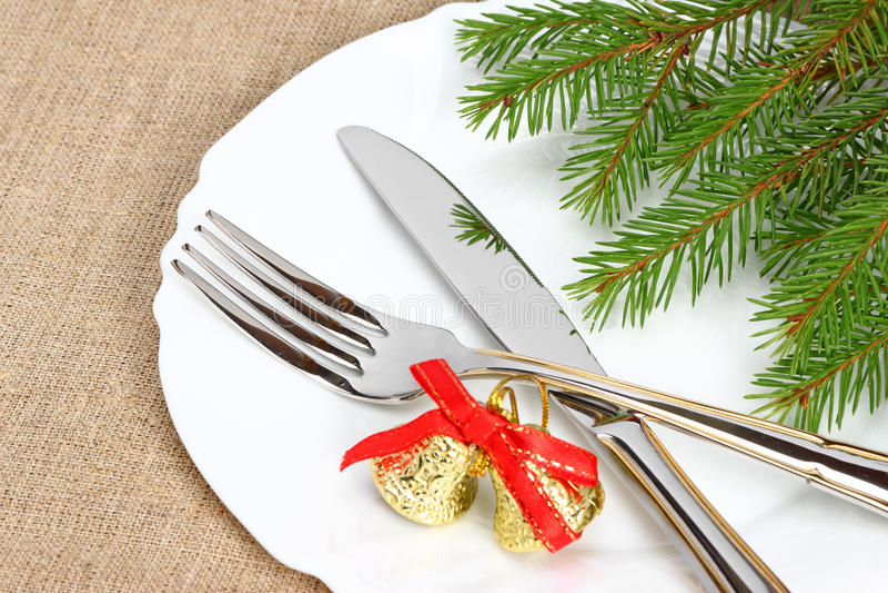 Placa de la Navidad fotos de archivo