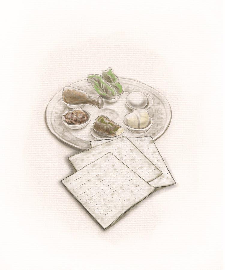 Placa de la pascua judía imagen de archivo