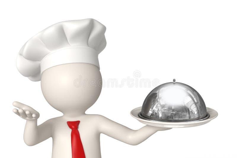 placa de la recepción del cocinero 3d fotografía de archivo libre de regalías
