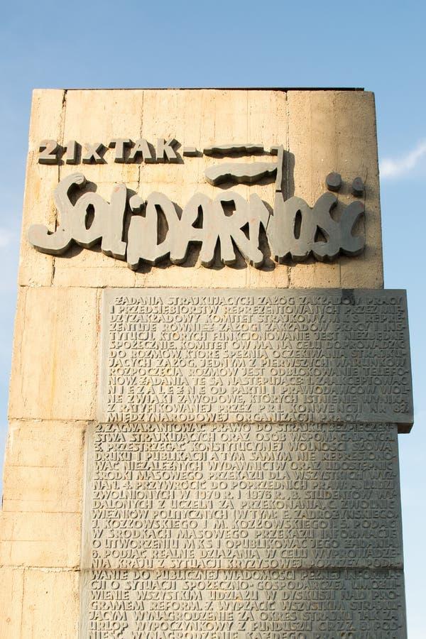 Placa de la solidaridad en Gdansk fotografía de archivo libre de regalías
