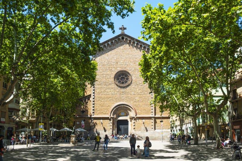 Placa DE La Virreina vierkant in Barcelona, Spanje stock fotografie
