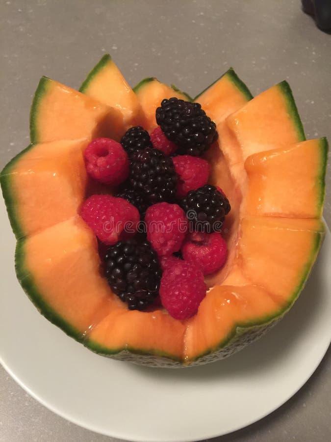 Placa de las frutas foto de archivo