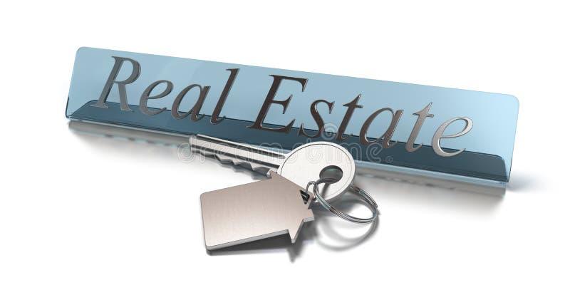 Placa de las propiedades inmobiliarias libre illustration