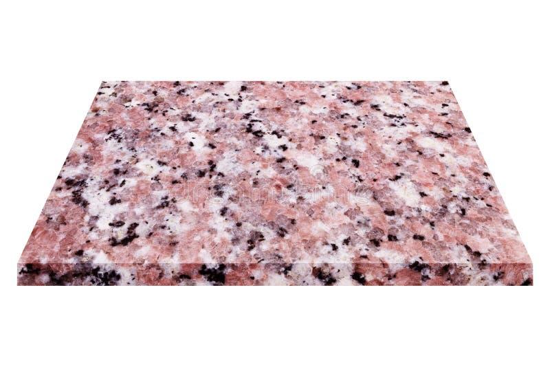 placa de mármore natural isolada no branco imagens de stock