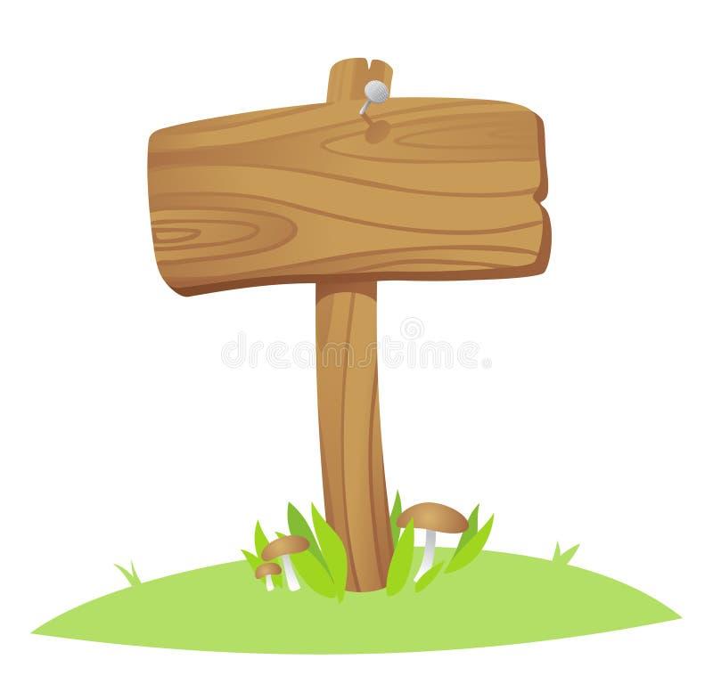 Placa de madeira ilustração stock